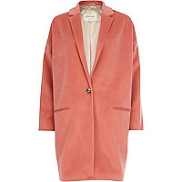 Coral oversized coat