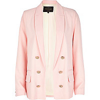 Light pink relaxed fit blazer