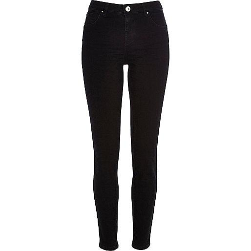 Jenna - Schwarze Straight Jeans