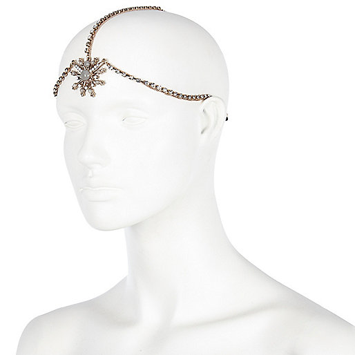 Light pink jewelled hair crown