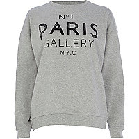 Grey No.1 Paris gallery NYC print sweatshirt