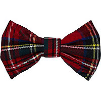 Red tartan hair bow
