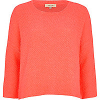 Pink boucle slouchy jumper