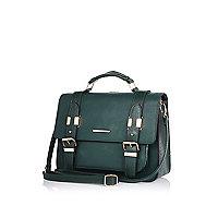 Dark green large satchel