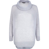 Grey lightweight turtle neck jumper