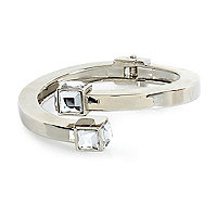 Silver tone gem stone bracelet