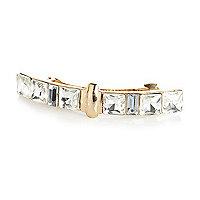 Gold tone crystal encrusted hair clip
