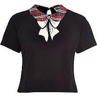 Black Chelsea Girl bow print t-shirt
