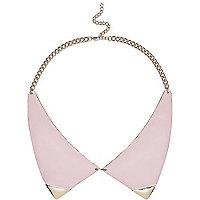 Pink enamel collar necklace