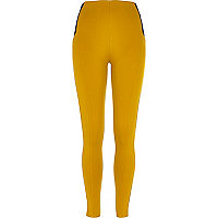 Mustard yellow high waisted leggings