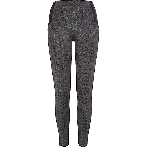 Dark grey fleck high waisted leggings