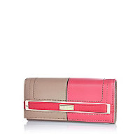 Pink two-tone purse