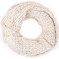 Cream loose knit snood