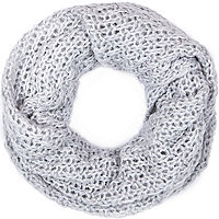 Light grey loose knit snood