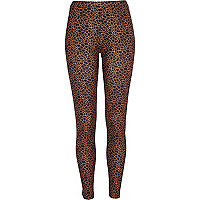 Black giraffe print neoprene leggings