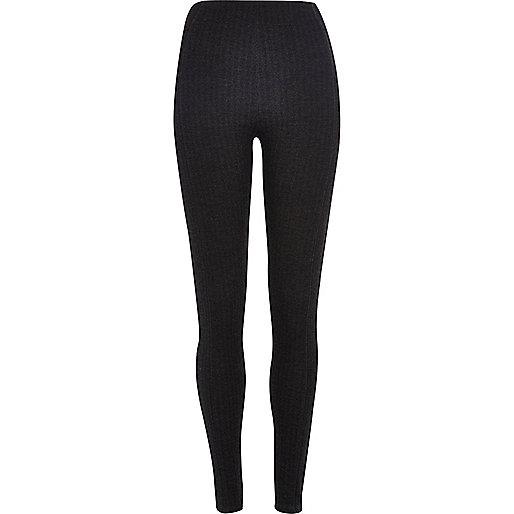 Dark grey herringbone leggings