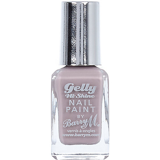 Almond purple Barry M Gelly nail polish