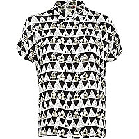White Chelsea Girl triangle print shirt