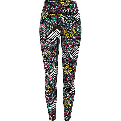 Black Chelsea Girl stained glass leggings