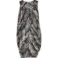 Black print cocoon dress