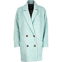 Teal oversized coat