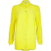 Bright yellow long sleeve shirt