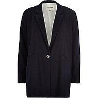 Navy blue flannel oversized jacket