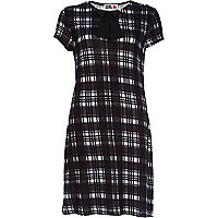 Black Chelsea Girl check swing dress