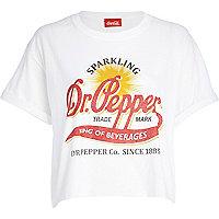 White Dr.Pepper print cropped t-shirt