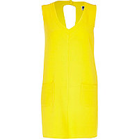 Yellow Chelsea Girl V neck shift dress