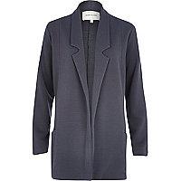 Grey jersey twill blazer