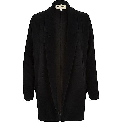 Black jersey twill blazer