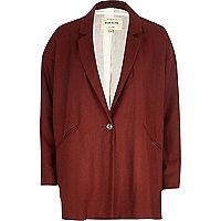 Dark red flannel oversized jacket