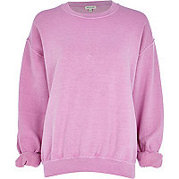 Light purple brushed sweatshirt