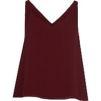 Dark red wrap back vest