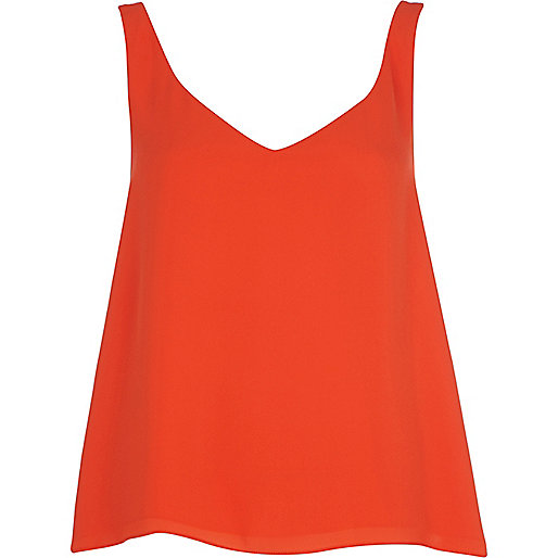 Orange wrap back vest