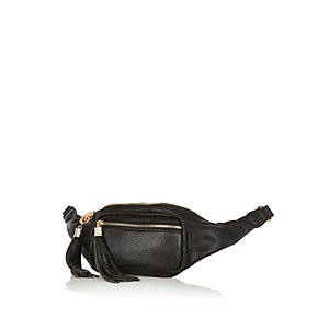 Black tassel trim bumbag