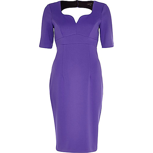 Purple cut out sweetheart miracle dress