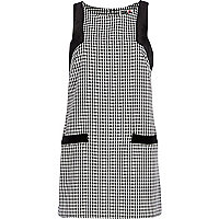 Black Chelsea Girl check shift dress