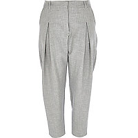 Grey peg leg trousers