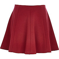 Dark red skater skirt