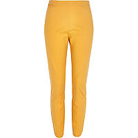 Orange ankle grazer slim trousers