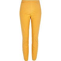 Orange ankle grazer slim trousers