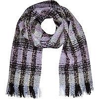Purple tartan blanket scarf