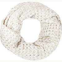 Oatmeal loose knit snood