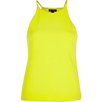 Lime crepe racer front top
