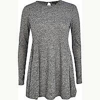 Grey marl swing dress