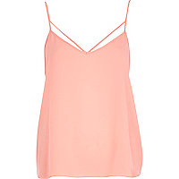 Light pink strappy cami top