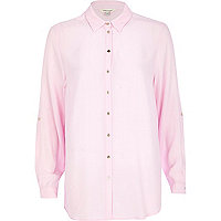 Light pink chiffon shirt