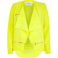Yellow lightweight waterfall biker jacket